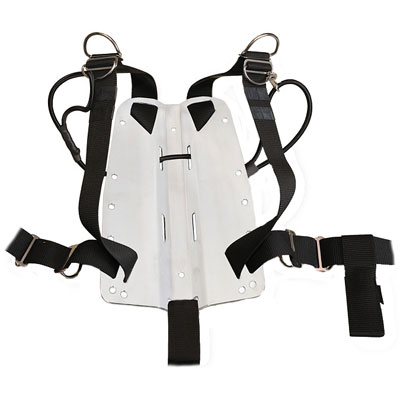Sidemount 3 mm aluminium + harness / SANDWICH